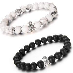 Set of 2 Pineapple Charm Bracelets  Couples,Bff